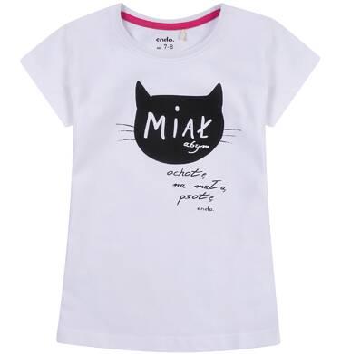 Endo - Bluzka z krótkim rękawem dla dziewczynki 3-8 lat D81G168_1