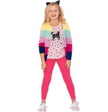 Endo - Legginsy dla dziewczynki, ciemnoróżowe, 2-8 lat D03K004_5