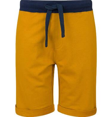 Endo - Krótkie spodenki dresowe dla chłopca, żółte, 2-8 lat C03K021_4 4