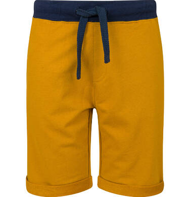 Endo - Krótkie spodenki dresowe dla chłopca, żółte, 9-13 lat C03K521_4