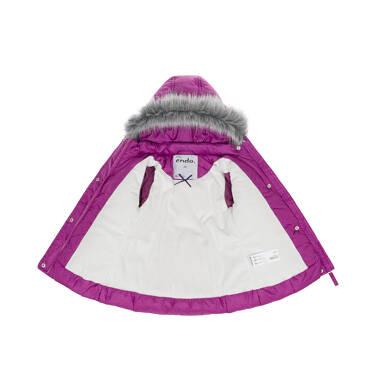 Endo - Zimowa kurtka dla małego dziecka, długa, ciemnoróżowa, ciepła N92A014_1 6