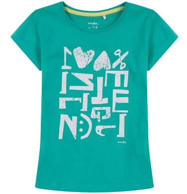 Endo - Bluzka z krótkim rękawem dla dziewczynki 9-13 lat D81G662_1