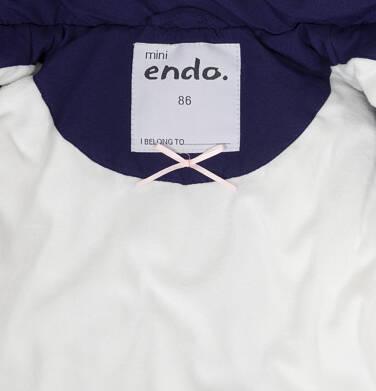 Endo - Zimowa kurtka dla małego dziecka, długa, indygo, z futrzanymi kieszeniami, ciepła N92A015_2,6