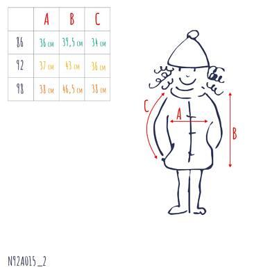 Endo - Zimowa kurtka dla małego dziecka, długa, indygo, z futrzanymi kieszeniami, ciepła N92A015_2,3