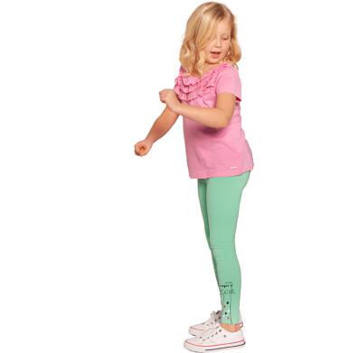 Endo - Leginnsy dla dziewczynki, z kotami, miętowe 2-8 lat D03K020_1