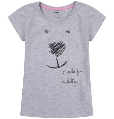 Bluzka z krótkim rękawem dla dziewczynki 9-13 lat D81G664_1