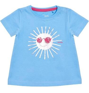 Endo - T-shirt dziewczęcy z krótkim rękawem dla dziecka 0-3 lata N81G031_1