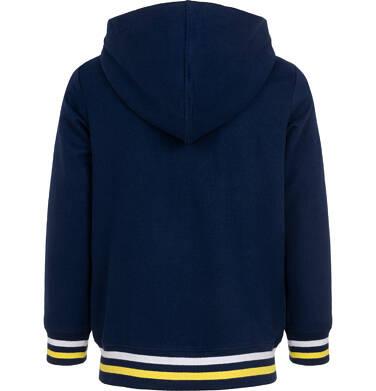 Endo - Rozpinana bluza z kapturem dla chłopca, z naszywką zawsze do przodu, granatowa, 9-13 lat C05C026_1 53