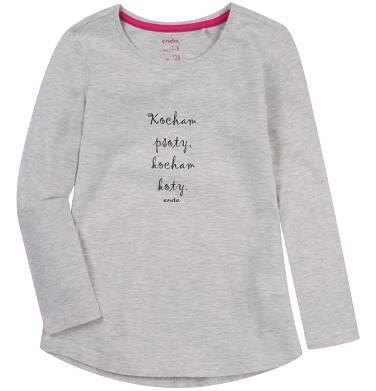 Endo - Bluzka z długim rękawem dla dziewczynki 9-13 lat D81G670_1