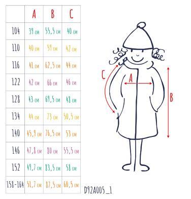 Endo - Zimowa kurtka, płaszcz dla dziewczynki 3-8 lat, długa, ciemnogranatowa, kaptur na misiu, ciepła D92A005_1,3