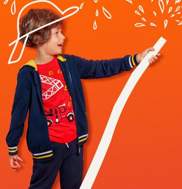 Rozpinana bluza z kapturem dla chłopca, z naszywką zawsze do przodu, 2-8 lat C05C027_1