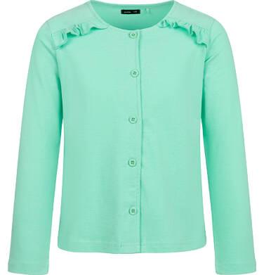 Rozpinana bluza dla dziewczynki, zielona, 2-8 lat D03C016_3