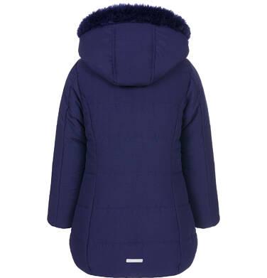 Endo - Zimowa kurtka dla dziewczynki 3-8 lat, długa, indygo, z futrzanymi kieszeniami, ciepła D92A007_2,5