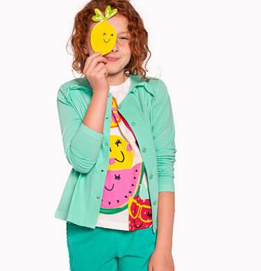 Endo - Rozpinana bluza dla dziewczynki, zielona, 9-13 lat D03C516_3,1
