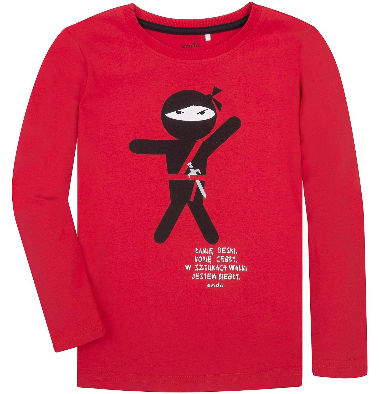 Endo - T-shirt z długim rękawem dla chłopca 9-13 lat C72G594_1