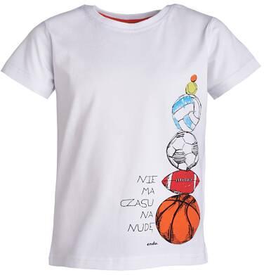 Endo - T-shirt z krótkim rękawem dla chłopca 9- 13 lat C81G601_2