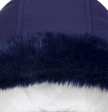 Endo - Zimowa kurtka dla dziewczynki 9-13 lat, długa, indygo, z futrzanymi kieszeniami, ciepła D92A507_2,7