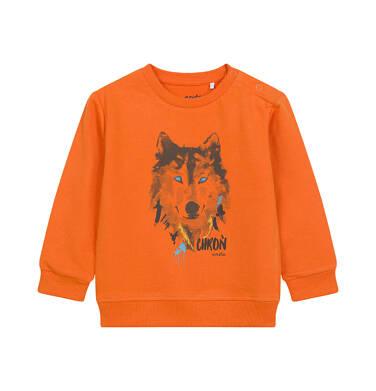 Endo - Bluza dla dziecka do 2 lat, z wilkiem, pomarańczowa N04C006_1 10