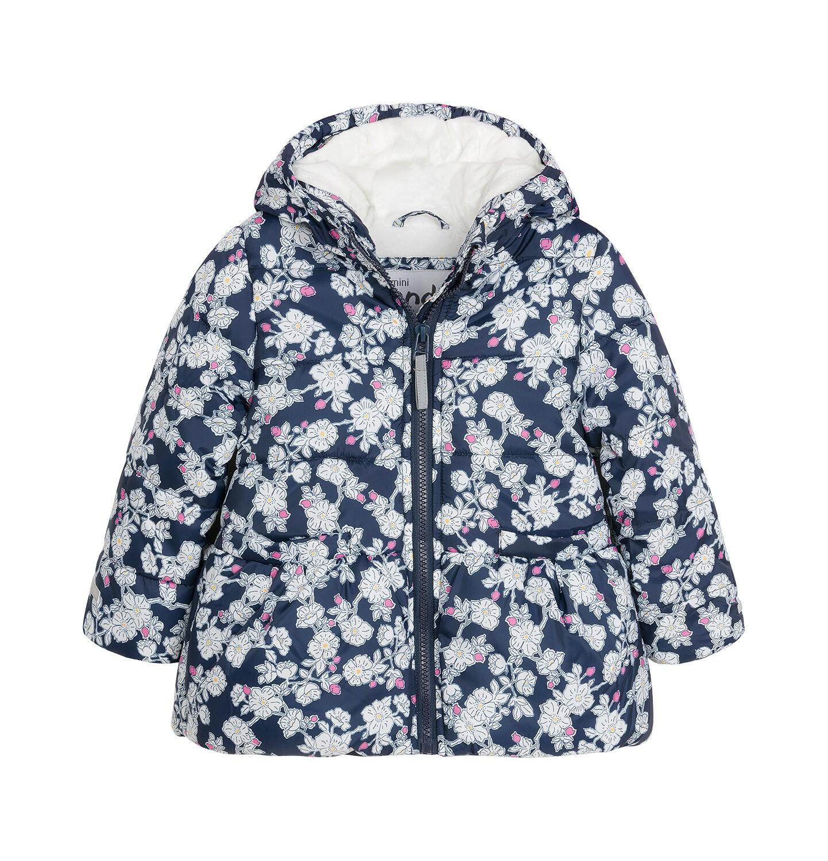 Endo - Kurtka zimowa dla małego dziecka, ciepła, deseń w kwiaty N92A019_1