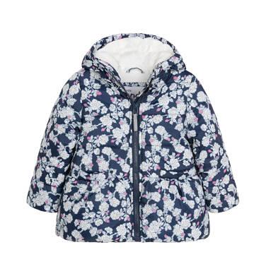 Endo - Kurtka zimowa dla małego dziecka, deseń w kwiaty N92A019_1
