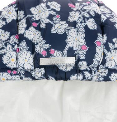 Endo - Kurtka zimowa dla małego dziecka, ciepła, deseń w kwiaty N92A019_1,5