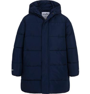 Endo - Długa kurtka zimowa dla chłopca, granatowy, 2-8 lat C08A001_1 18