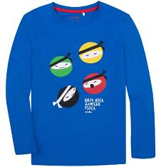 T-shirt z długim rękawem dla chłopca 9-13 lat C72G603_1
