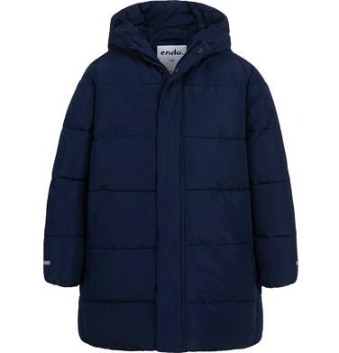 Endo - Długa zimowa kurtka dla chłopca, granatowy, 9-13 lat C08A501_1 9
