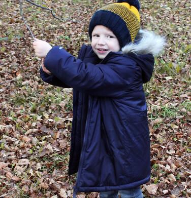 Endo - Długa zimowa kurtka dla chłopca, granatowy, 2-8 lat C08A003_1 28
