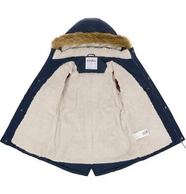Endo - Zimowa kurtka parka dla chłopca 3-8 lat, Polarny świat, granatowa C92A001_1