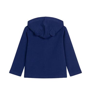 Endo - Rozpinana bluza z kapturem dla dziecka do 2 lat, z kotem w kropki, granatowa N05C021_1 13