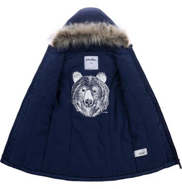 Endo - Długa zimowa kurtka dla chłopca, granatowy, 9-13 lat C08A503_1 17