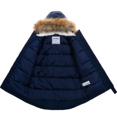 Endo - Kurtka parka zimowa dla chłopca, granatowa, 2-8 lat C08A004_2,5