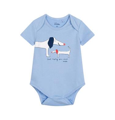 Endo - Body z krótkim rękawem dla dziecka do 2 lat, z pieskami, niebieskie N05M010_1 7