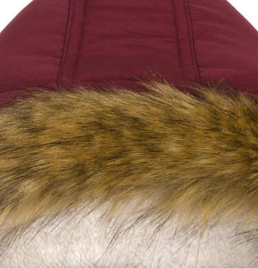 Endo - Zimowa kurtka parka dla chłopca 9-13 lat, Niedźwiedzie tropy, ciemnowiśniowa, ciepła C92A501_2,9