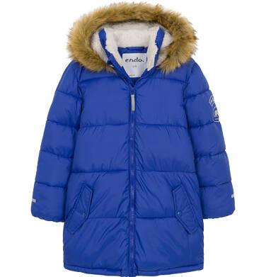 Zimowa kurtka dla chłopca 3-8 lat, Polarny świat, długa, niebieska C92A005_1
