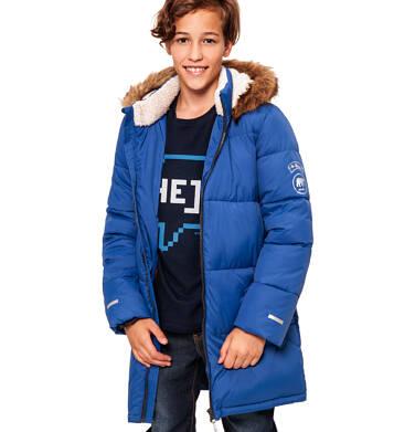 Endo - Zimowa kurtka dla chłopca 3-8 lat, Polarny świat, długa, niebieska, ciepła C92A005_1 8