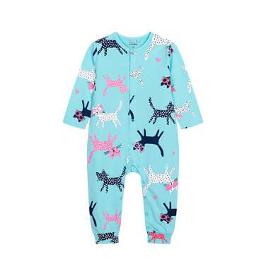 Endo - Pajac z długim rękawem dla dziecka do 2 lat, deseń w koty, niebieski N05N010_1 5