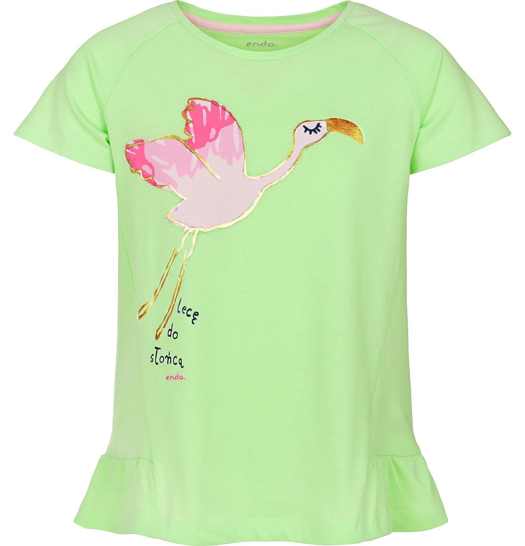 Endo - Bluzka z krótkim rękawem dla dziewczynki 3-8 lat D91G105_1
