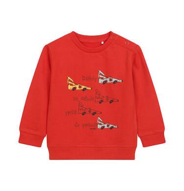 Endo - Bluza dla dziecka do 2 lat, w samochody, czerwona N04C007_1 9