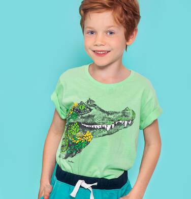 Endo - T-shirt z krótkim rękawem dla chłopca, z krokodylem, zielony, 2-8 lat C06G108_1 131