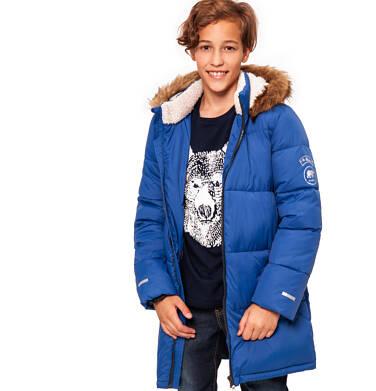 Endo - Zimowa kurtka dla chłopca 9-13 lat, Polarny świat, długa, niebieska C92A505_1