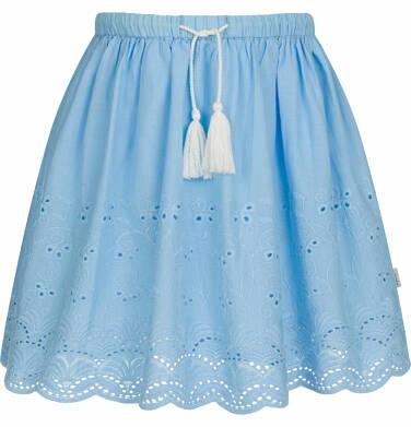 Endo - Krótka spódnica z delikatnym haftem, niebieska, 2-8 lat D03J012_1