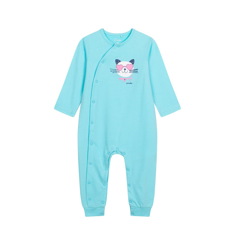Endo - Pajac z długim rękawem dla dziecka do 2 lat, z kotkiem, niebieski N05N037_2