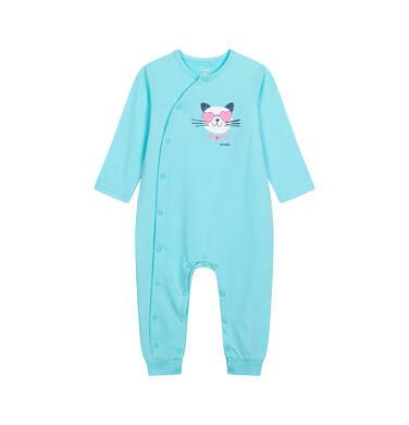 Endo - Pajac z długim rękawem dla dziecka do 2 lat, z kotkiem, niebieski N05N037_2 5