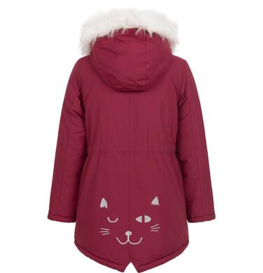 Endo - Kurtka parka zimowa dla dziewczynki, bordowa, 2-8 lat D08A003_2 14