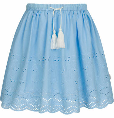 Endo - Krótka spódnica z delikatnym haftem, niebieska, 9-13 lat D03J512_1,1