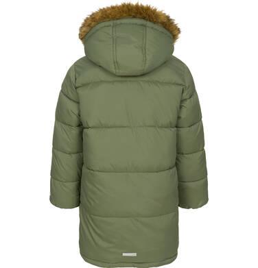 Endo - Zimowa kurtka dla chłopca 9-13 lat, długa, zielona, na flanelowej podszewce, ciepła C92A505_2,4