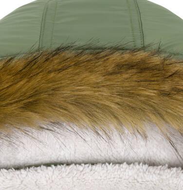 Endo - Zimowa kurtka dla chłopca 9-13 lat, długa, zielona, na flanelowej podszewce, ciepła C92A505_2,8