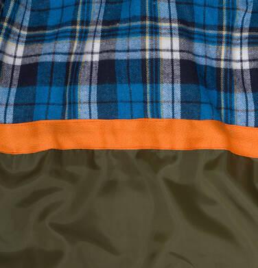 Endo - Zimowa kurtka dla chłopca 9-13 lat, długa, zielona, na flanelowej podszewce, ciepła C92A505_2,5